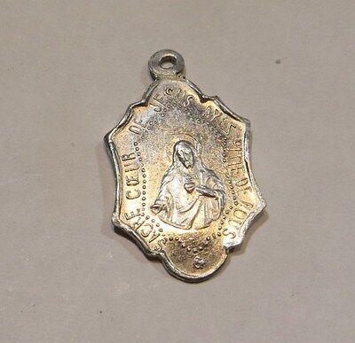 Médaille de Notre Dame de Hal (1) et du Sacré Cœur de Jésus en aluminium