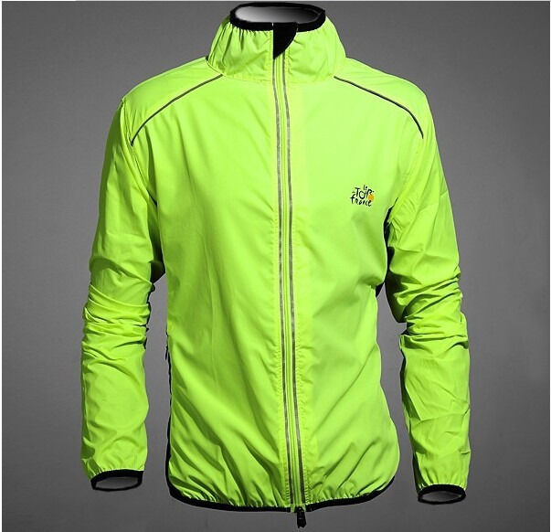 NEW Fashion Cycling Bicycle BIKE Coat Windproof Long Sleeve Jersey Jacket Green Cycling