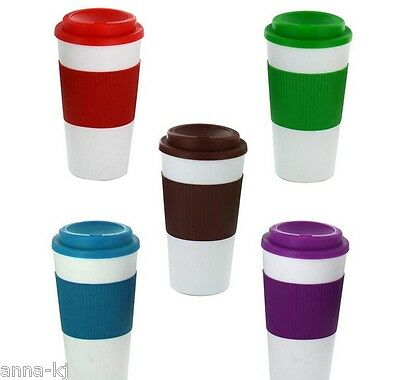 Travel Camping Outdoor Thermal Plastic Cup Mug with Lid Coffee Tea Liquids Cheap