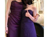 purple alfred angelo bridesmaid dresses