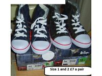 lee cooper canvas shoes/high tops from a smoke and pet free home £7 a pair