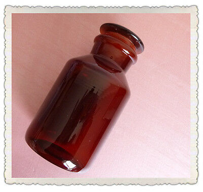 125ml Amber Glass Reagent Bottlewide Mouthground Stopperlab Glassware