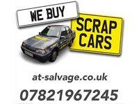 Scrap my car - at salvage - scrap a car - sell my car