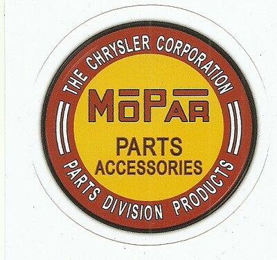 CHRYSLER MOPAR PARTS AND ACCESSORIES Sticker Decal