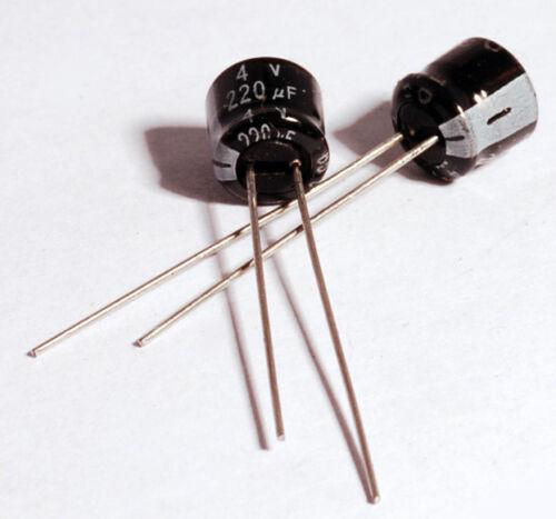 x2 Minolta X-700 Capacitors Replacement Pack 220uF 4V C9 C10 (2 Pieces)