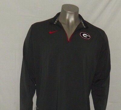 Georgia Bulldog Game (Nike Men's Georgia Bulldogs Game Day Half-Zip Knit Performance Shirt New)