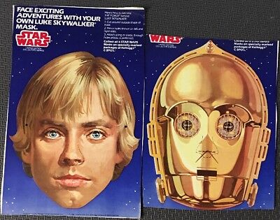 C3P0s Kellogg's Cereal STAR WARS Box Masks Luke Skywalker C-3PO 1984 for sale  Bartlesville