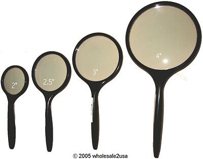 4 Hand Held Magnifiers Reading Magnify Loupes 3x 4x 5x