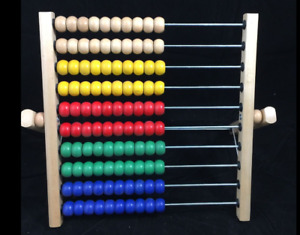 IKEA Abacus Toy with Wood colourful Beads - Educational