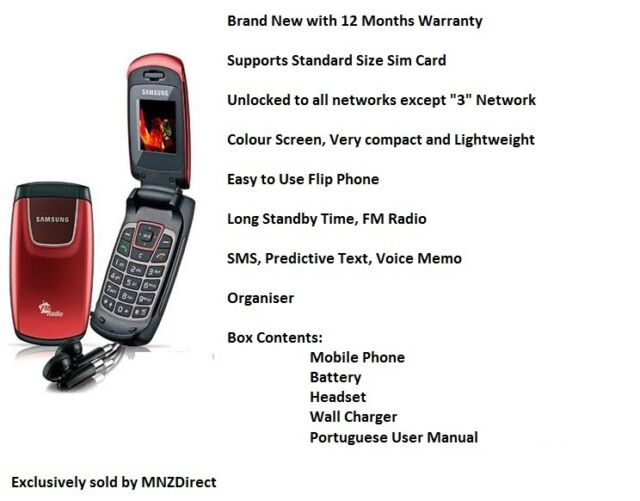 New Samsung C276 Flip Fold Easy to Use Compact Lightweight FM Radio Mobile Phone