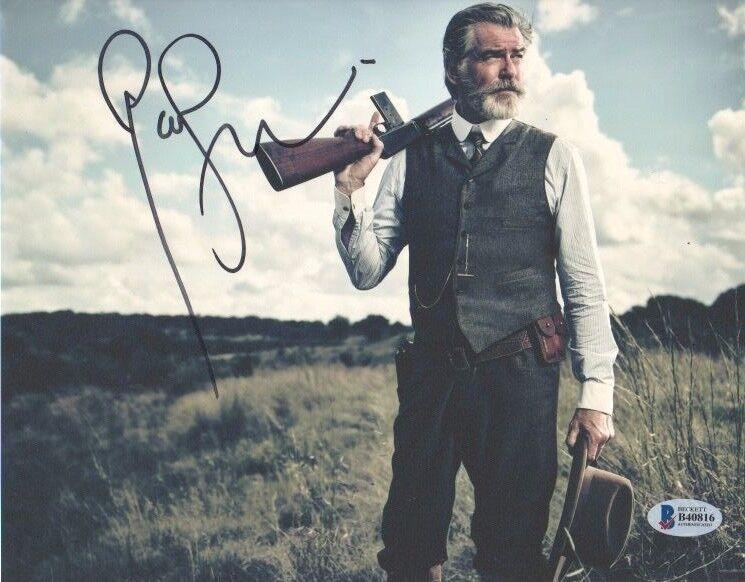 Pierce Brosnan The Son Autographed Signed 8x10 Photo Beckett COA #1