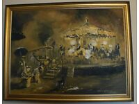 Impressive Large Oil Painting by Cavan Corrigan (Free courier delivery England)