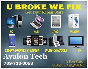 Repair iPhone, iPad, Tablet, Laptop Desktop Smartphones ,TV St. John's Newfoundland image 1