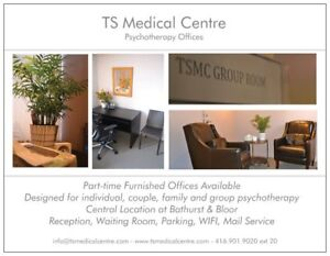 Psychotherapy/Psychiatry office space for rent Downtown Toronto