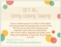 DO IT ALL. CARING.COOKING.CLEANING