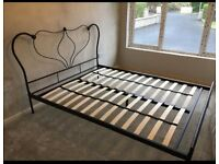 Next kingside bed frame with matress
