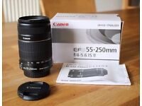 Canon EF-S 55-250 f/4-5.6 IS II lens - VERY GOOD