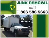 Big junk hauling jobs, call us to SAVE on junk removal.
