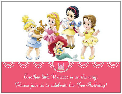 - 20  Princess Cinderella BABY Girl SHOWER Postcards Flat Cards Env Invitations