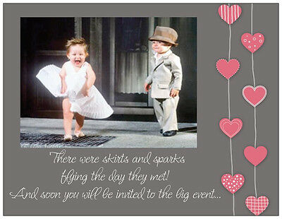 Personalized Marilyn MONROE KIDS WEDDING Shower INVITATIONS  Post/Flat Cards ()