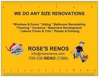 WE DO ANY SIZE RENOVATIONS