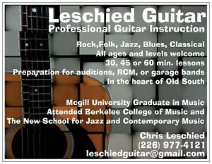 Guitar Lesson in Old South London Ontario image 1