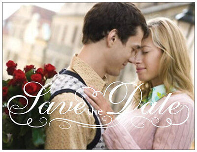 50  100  Personalized Custom Save the DATE Your PICTURE PostCARDS  Flat CARDS   - Custom Save The Dates