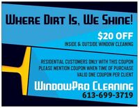 Window Cleaning, Now Booking Saturday's!