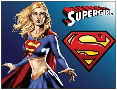 20 SUPERGIRL Super Girl BIRTHDAY Party INVITATIONS Flat Cards Env