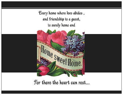 Personalized Home SWEET Home HOUSE WARMING INVITATIONS  Post OR Flat Cards ()