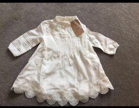 Pretty baby dress RIVER ISLAND size 3-6months BRAND NEW