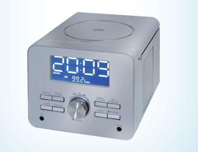UHRENRADIO MIT CD PLAYER SILBER KÜCHENRADIO WECKRADIO RADIOWECKER (Uhr Mit Cd-player)