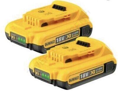 DeWalt DCB183 18v XR Li-Ion 2.0Ah Battery Twin Pack