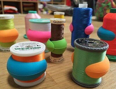 Lot of 48 Embroidery/Sewing Machine Thread Spools Huggers/Peels Mess Free Thread