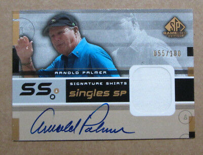 bd3b4a2ddab SCARCE 2003 SP GAME USED ARNOLD PALMER AUTO SIGNED JERSEY CARD 055 100 RARE
