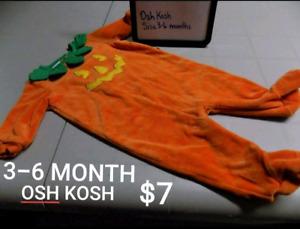 3-6 MONTH OSH KOSH PUMPKIN SLEEPER