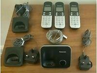 Panasonic DECT phone trio set