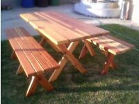 Brand New Chunky Picnic Table With Detached Benches- Free Delivery In Southampton Area