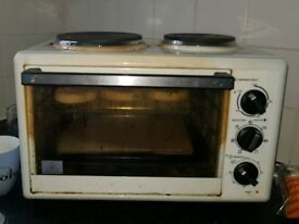 Table top oven and hob