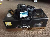 Nikon D D3100 14.2MP Digital SLR Camera - Black