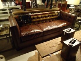 Premium Brand 'Stars and Strips' Full Leather Sofa rrp £3295
