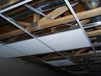 BEST PRICES FOR Drop down ceiling tiles installs. T bar; T-bar C