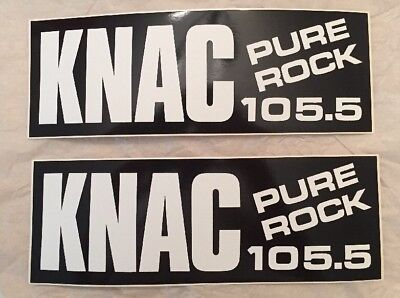 Brand New Pure Rock 105.5 KNAC Bumpersticker (2x Per Purchase)