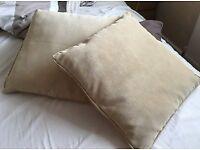 Pair of Next Beige Cushions