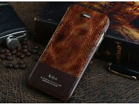 Luxury Kajsa Snake Real Leather Stand Flip Wallet Case F iPhone 6 / 6S and 6/6S Plus