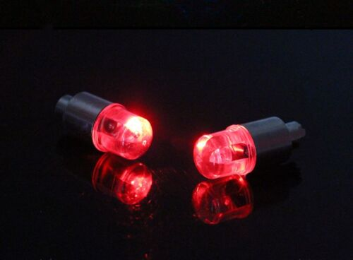 4 PCS Red Car Tire Tyre Wheel Dust Stems Air Valves Caps Stem LED Lights Cover