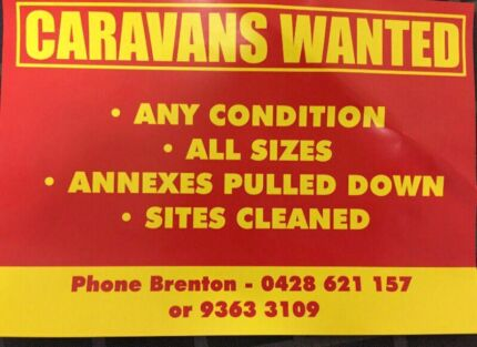 Caravans wanted  Ravenhall Melton Area Preview