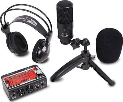 Dj Tech STUDIOPACK202 Studio Recording Kit W/ Usb Audio Interface, Condenser