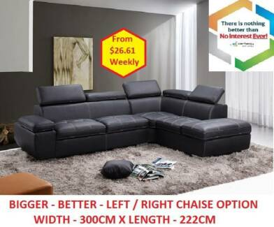 Brand New CU/Genuine Leather Sofa Set with/without Storage