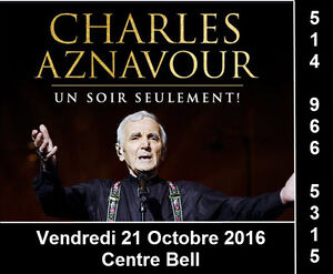 Charles Aznavour 21/10/16, Centre Bell, Section Rouge, Club
